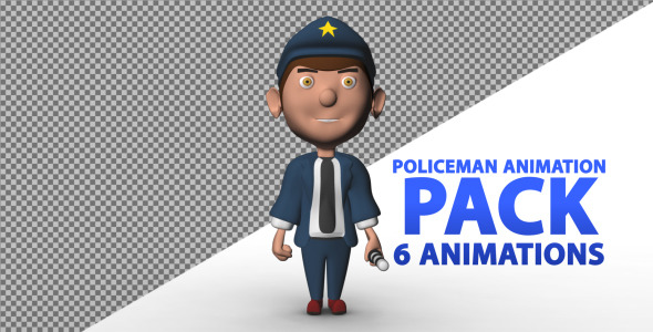 3D Animated Policeman Pack