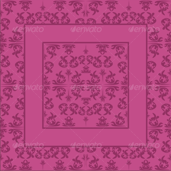 Ornate pink background - Backgrounds Decorative