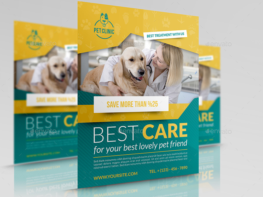 Veterinarian Clinic Flyer Template By Owpictures