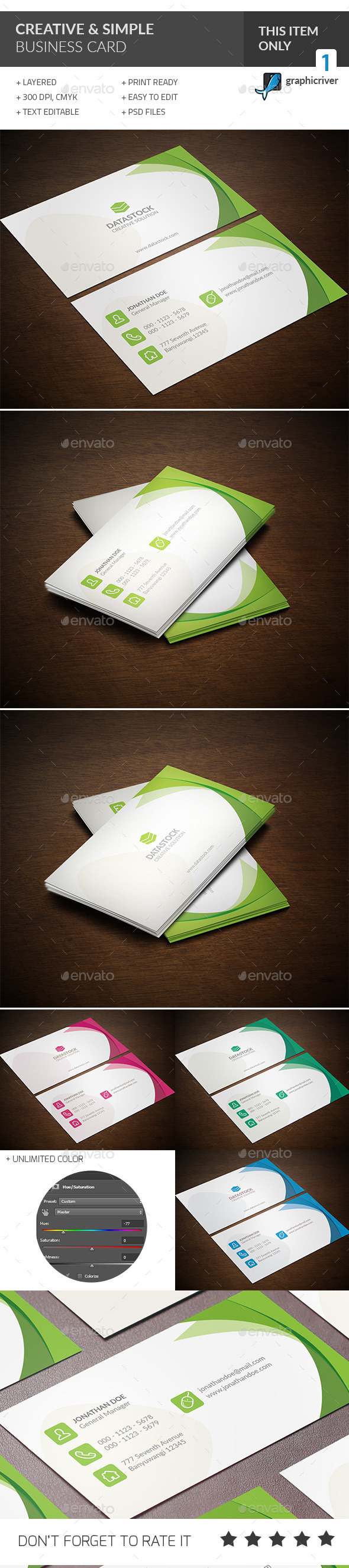 Creative & Simple Business Card - Creative Business Cards
