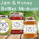 4 Jam and Honey Glass Jars Mockup - GraphicRiver Item for Sale