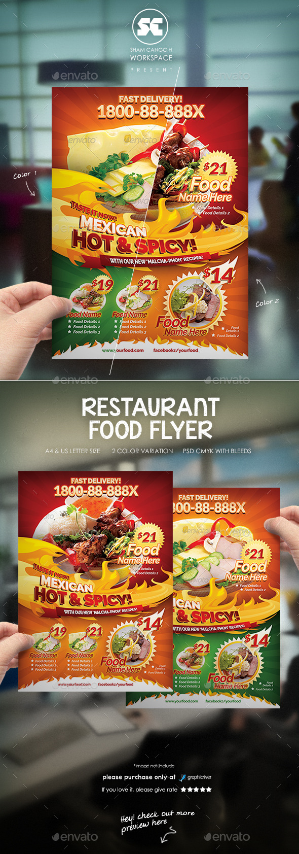 Foods Restaurant Flyer