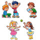 Boys and girls are playing - GraphicRiver Item for Sale