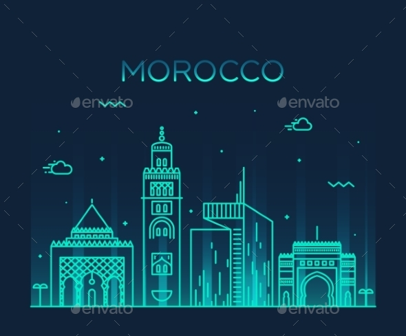 Morocco Skyline - Buildings Objects