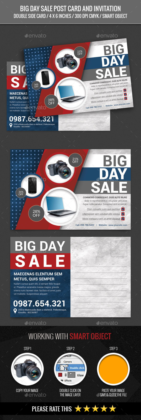 Big Day Sale Post Card Template - Cards & Invites Print Templates