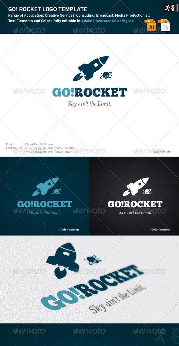 Go Rocket Logo Template - Objects Logo Templates
