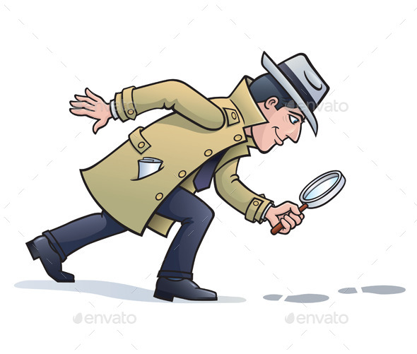Sleuth Looking for Clues - People Characters