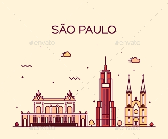 Sao Paulo Skyline - Buildings Objects