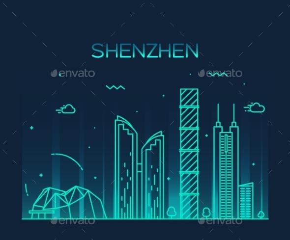 Shenzhen Skyline - Buildings Objects