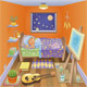 Boy is sleeping in his bedroom. - GraphicRiver Item for Sale