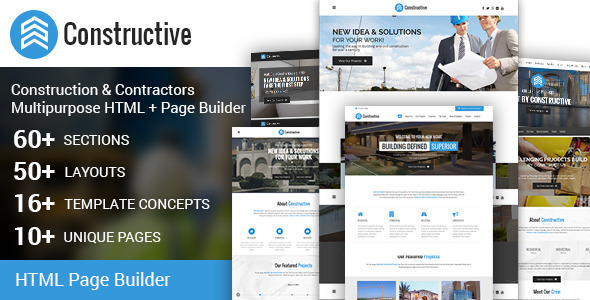 Constructive-Contractors HTML+ Page Builder