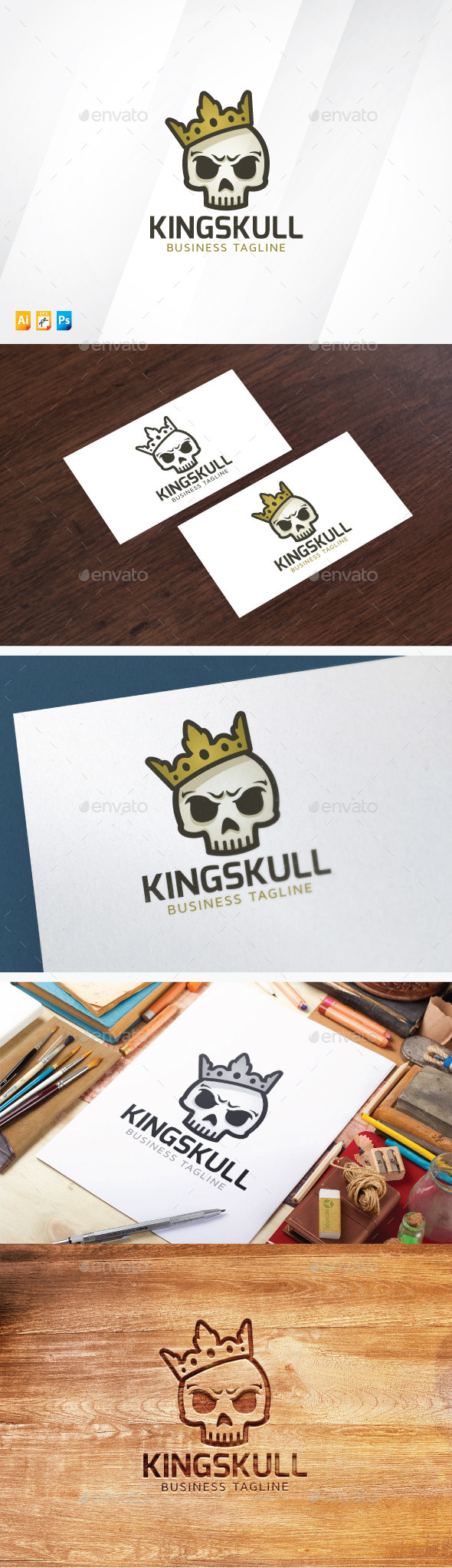 King Skull - Objects Logo Templates