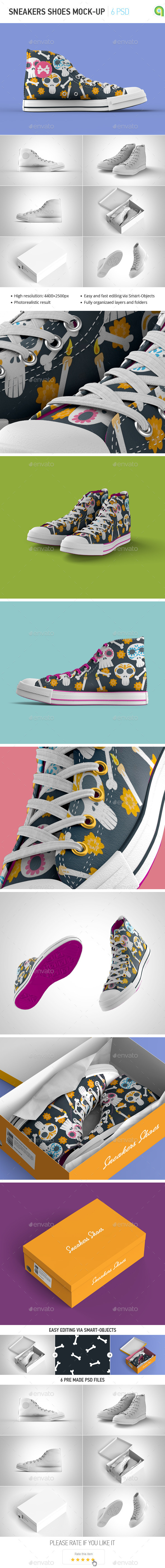 Sneakers Shoes Mock-up - Miscellaneous Apparel