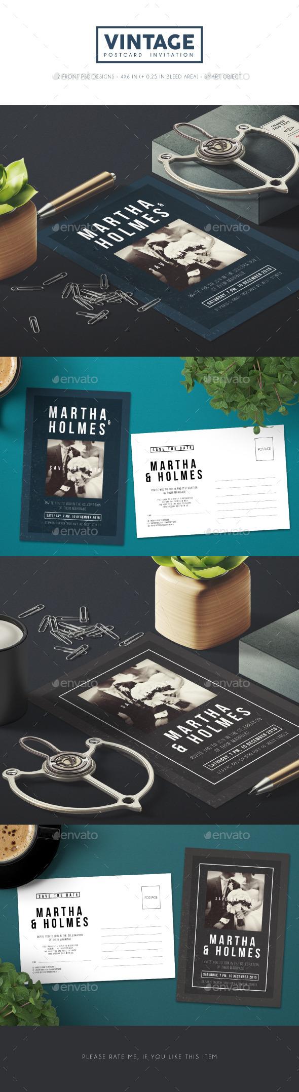 Vintage Wedding Invitation - Invitations Cards & Invites