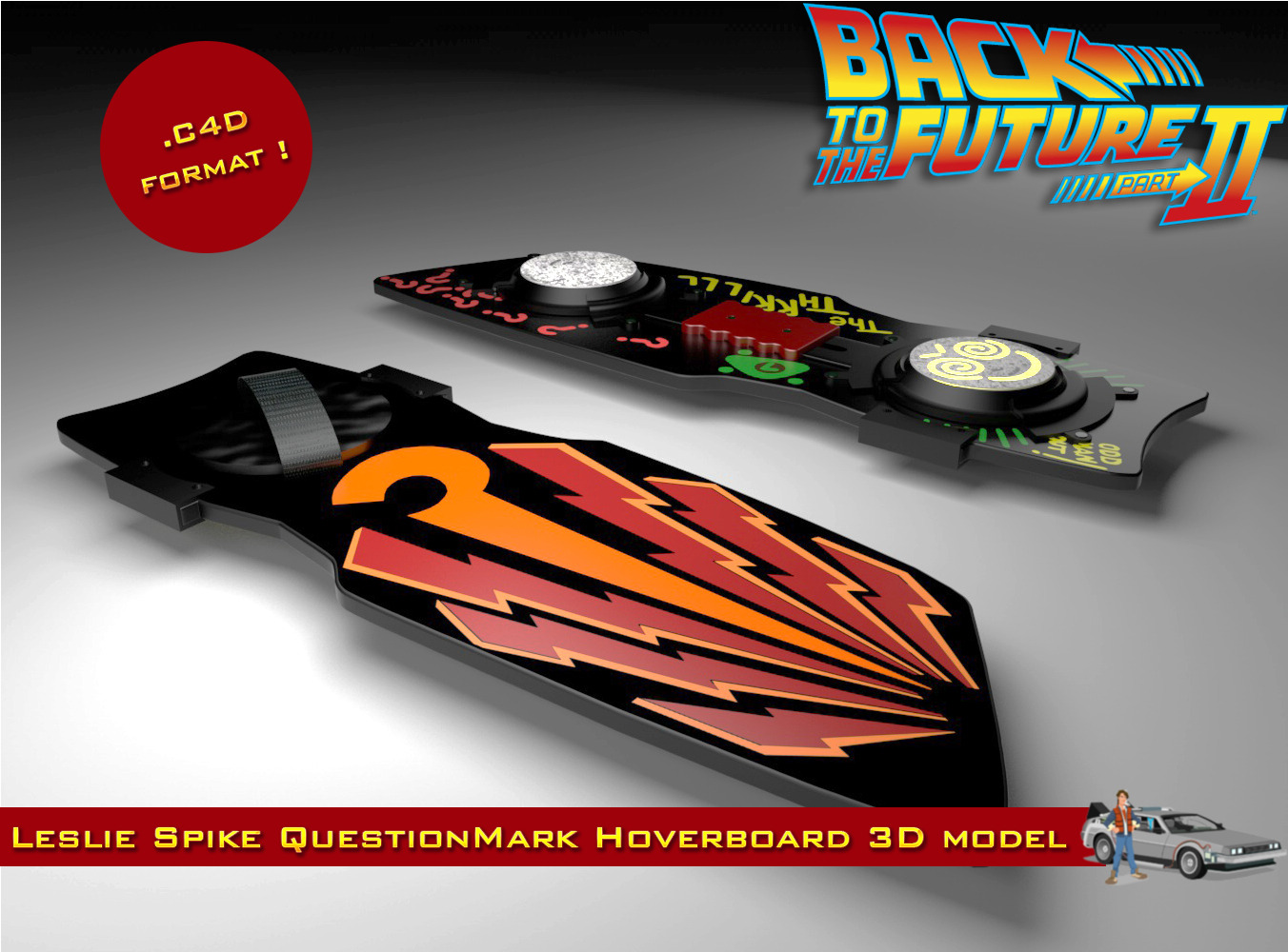Water Hoverboard For Sale >> Leslie Spike O'Malley's QuestionMark Hoverboard by MARCEL_studios | 3DOcean