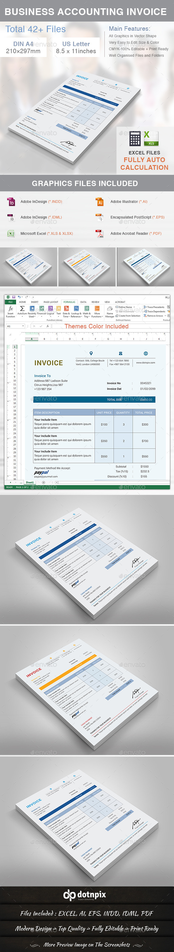Business Accounting Invoice - Proposals & Invoices Stationery