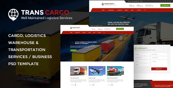 TransCargo – Transport & Logistics PSD Template