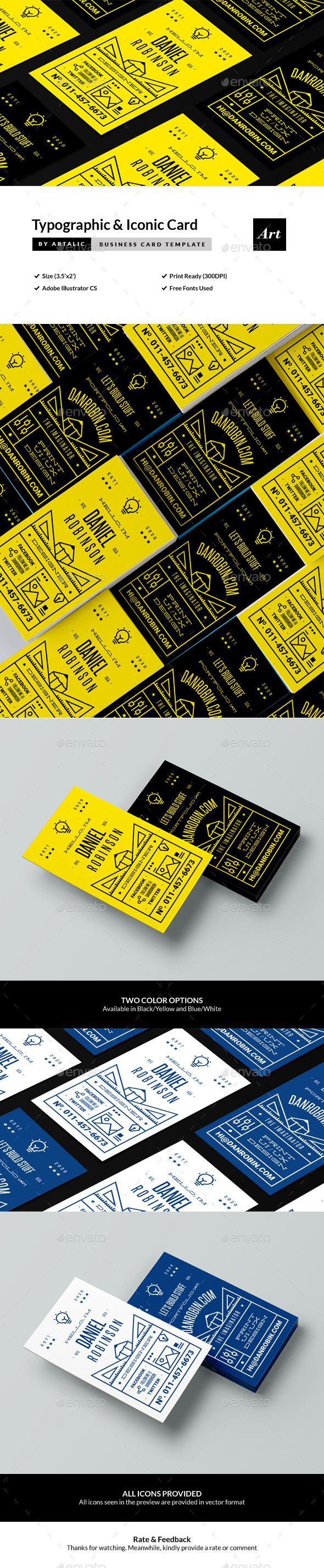 Typographic Namecard - Creative Business Cards