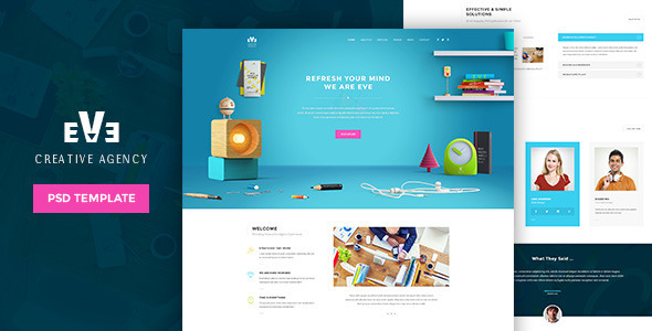 Eve | Creative PSD Theme - Creative PSD Templates