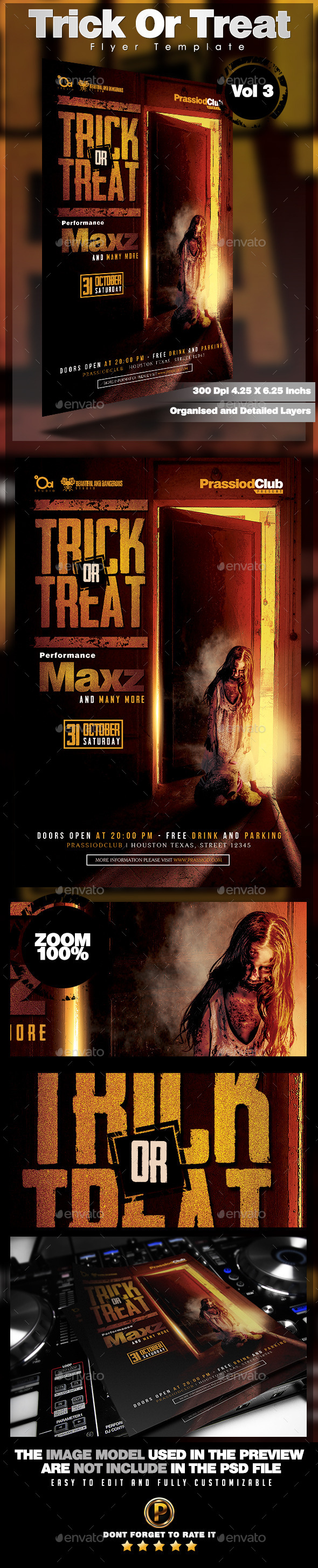 Trick Or Treat Flyer Template Vol 3