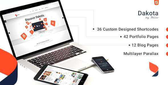 Dakota – Multi-Purpose Business HTML5 Template