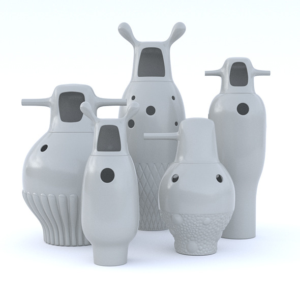 Jaime Hayon Vases - 3DOcean Item for Sale