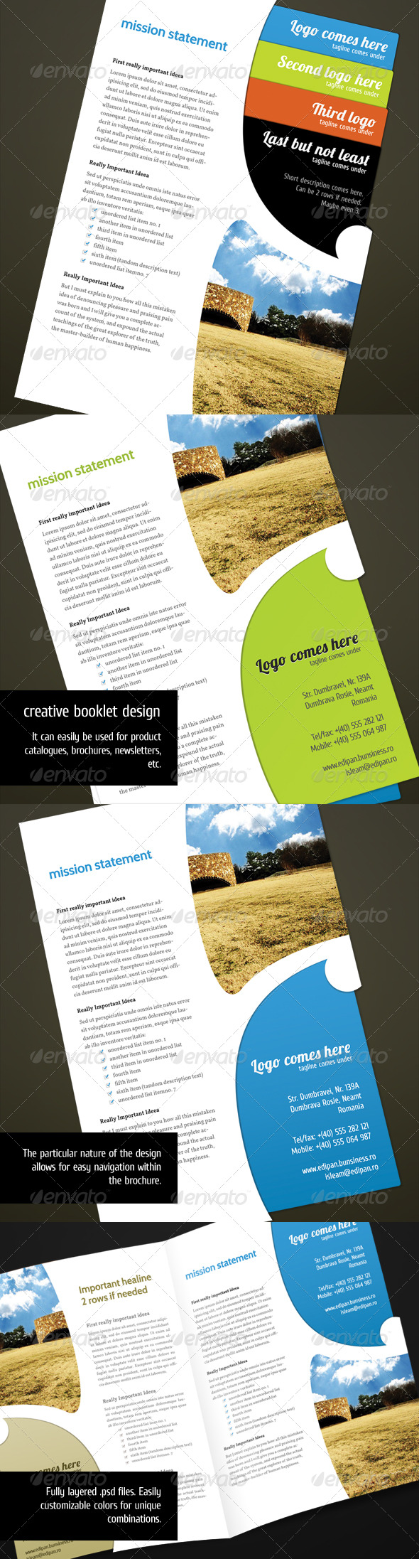 Brochure Unique Template. - Corporate Brochures