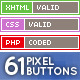 61 Pixel Buttons (Web Elements) - GraphicRiver Item for Sale