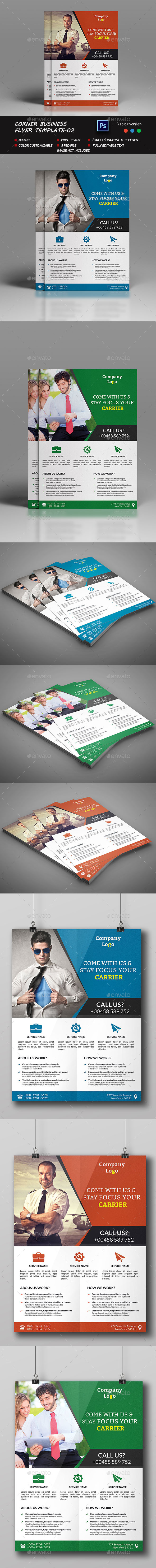 Corner Business Flyer Template-02 - Corporate Flyers