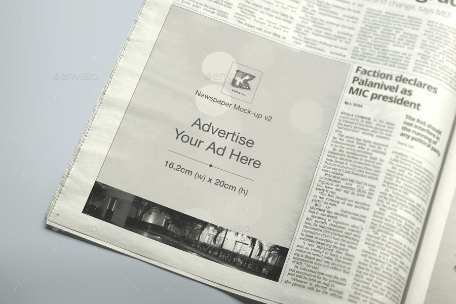 Newspaper Mock-up v2 by kenoric | GraphicRiver