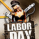 Labor Day Party | Flyer Template PSD - GraphicRiver Item for Sale