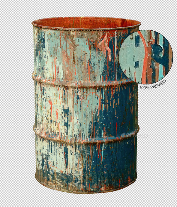 Old Rusty Metal Barrel