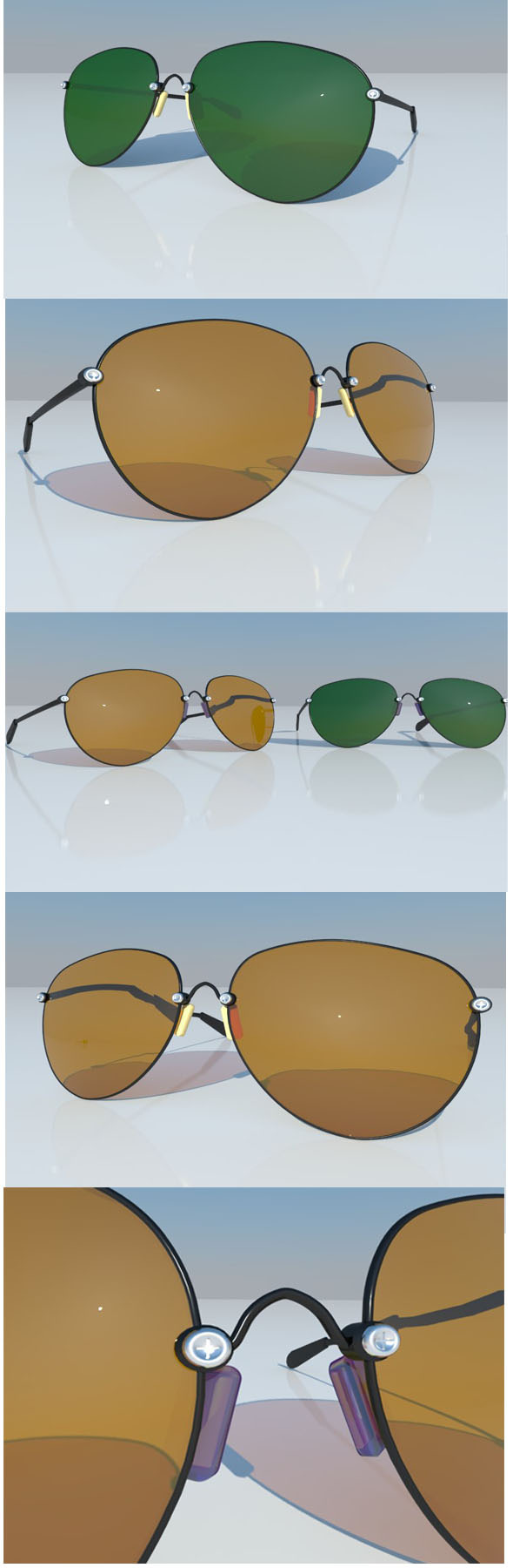aviator sunglasses - 3DOcean Item for Sale