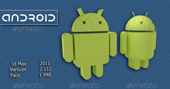Android logo - 3DOcean Item for Sale