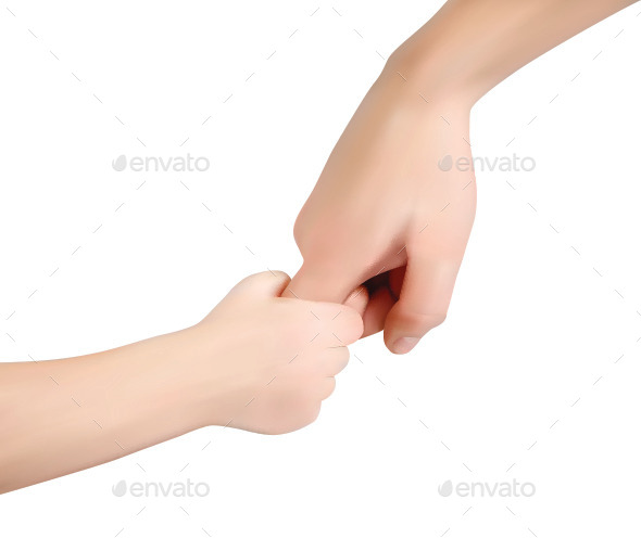 Holding Hands - People Characters