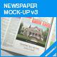 Newspaper Mock-up v3 - GraphicRiver Item for Sale