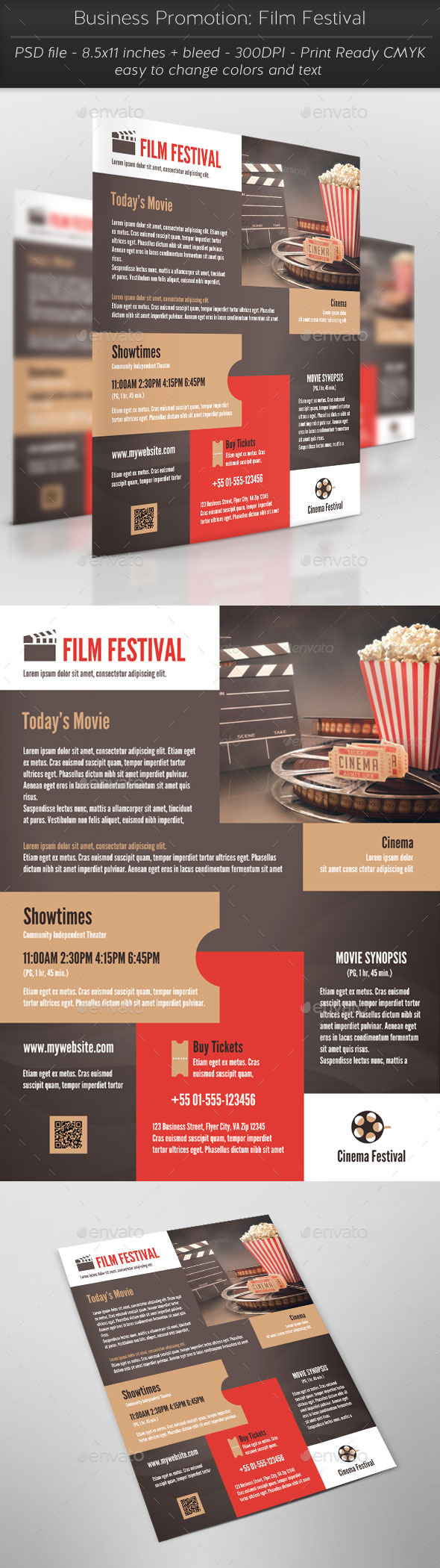Business Promotion: Film Festival - Flyers Print Templates