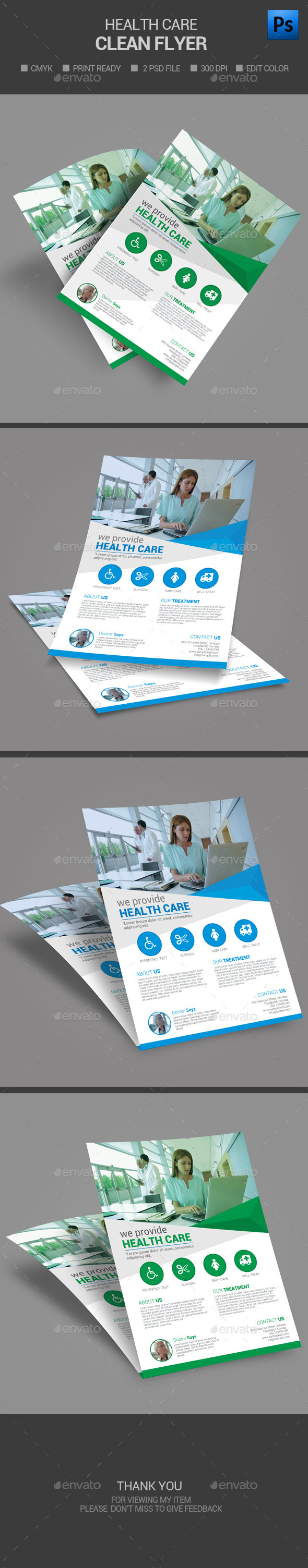 Medical Health Care flyer - Flyers Print Templates