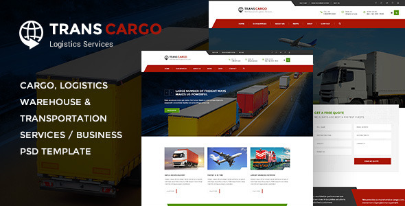 TransCargo - Transport & Logistics PSD Template - Business Corporate