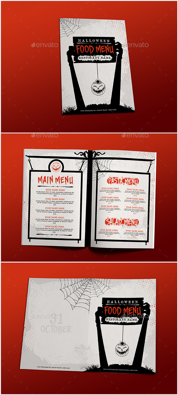 Halloween Food Menu