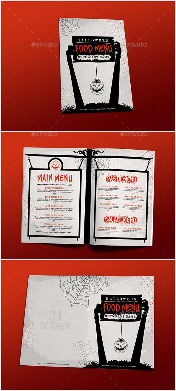 Halloween Food Menu - Food Menus Print Templates