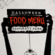Halloween Food Menu - GraphicRiver Item for Sale