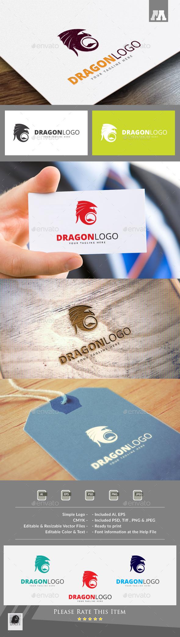 Dragon Logo Template - Animals Logo Templates