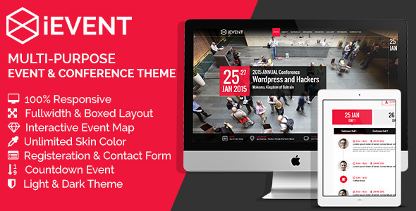 iEVENT – Event & Conference HTML Template