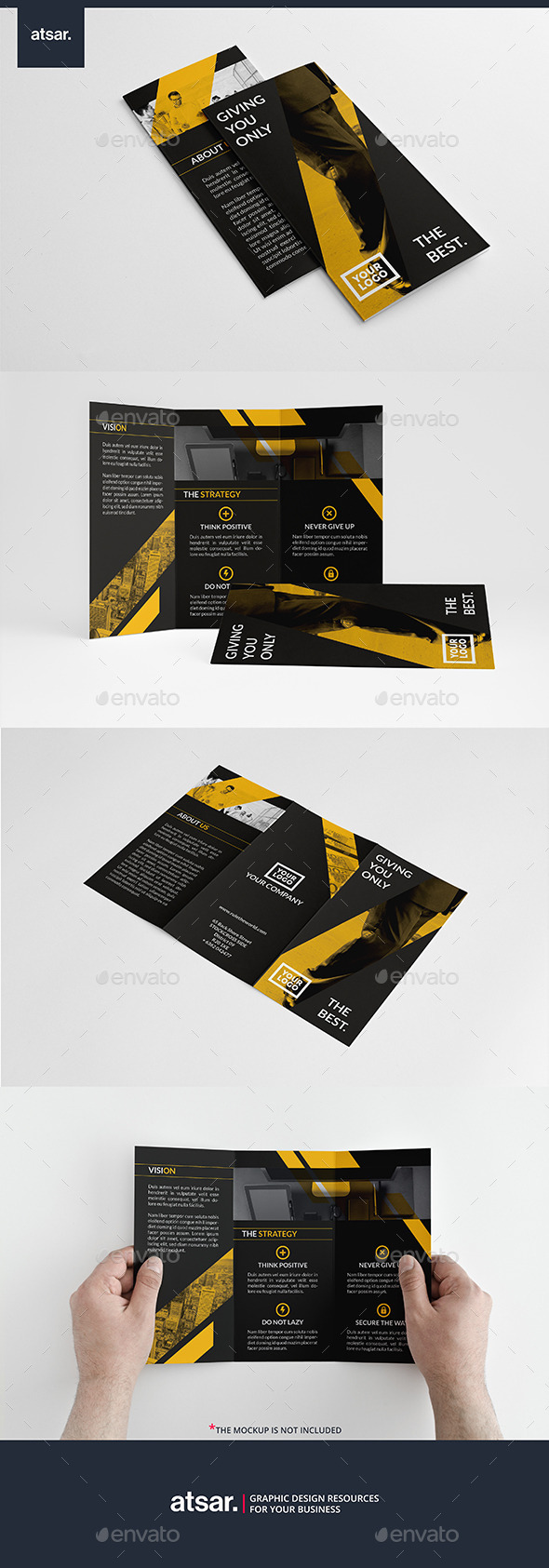Yellow Financial Trifold - Corporate Brochures