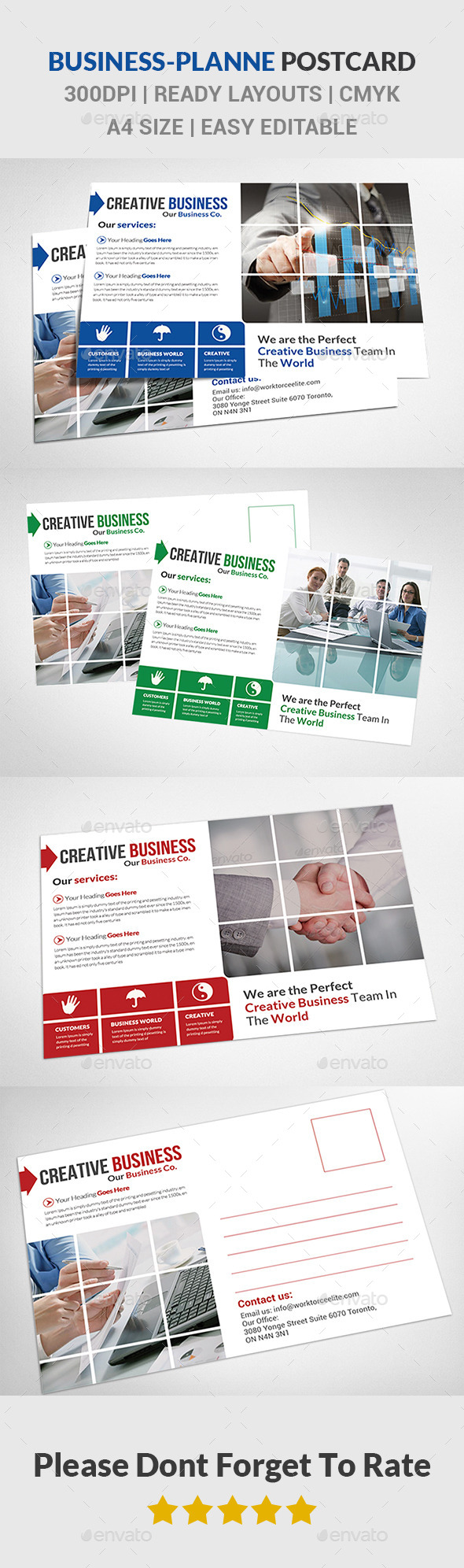 Corporate Business Postcards  - Cards & Invites Print Templates