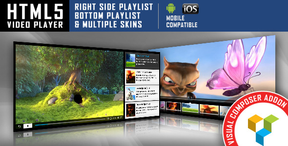 Visual composer addon html5 video player for wpbakery for Html5 video player template