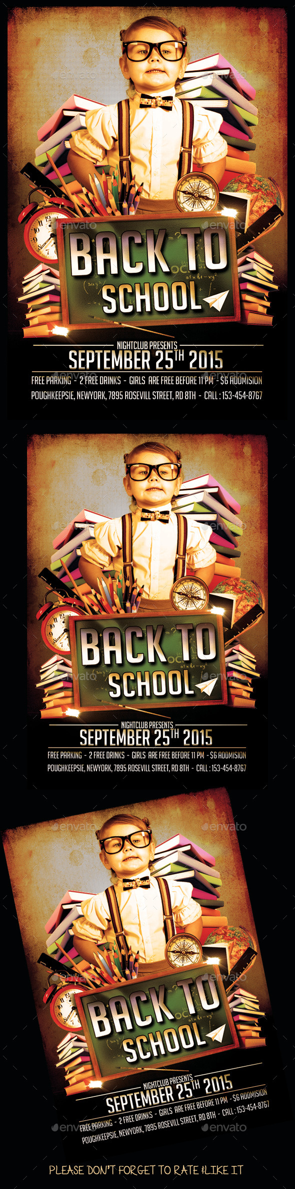 Back 2  School Flyer - Events Flyers