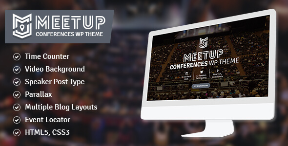 The Meetup Conference Event WordPress Theme
