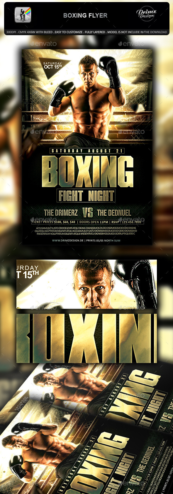 Boxing Flyer - Sports Events